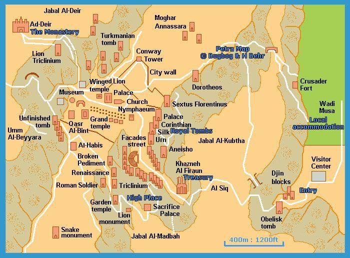 Petra jordan map places i want to visit pinterest petra petra jordan map publicscrutiny Choice Image