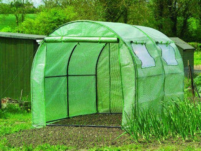 6 x 3m Portable Steel Frame Polytunnel Walk-in Greenhouse Garden Polly tunnel UK