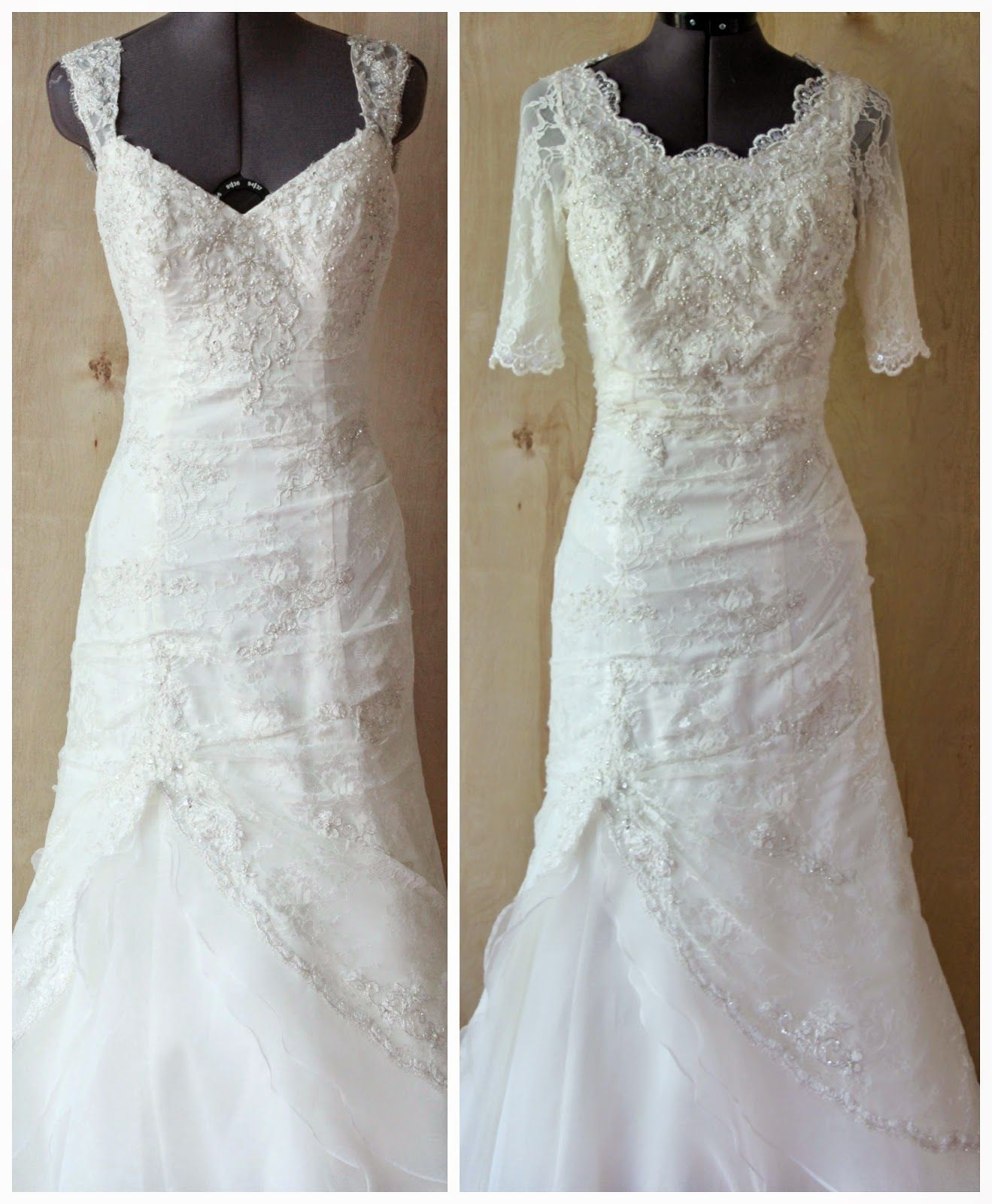 Gowns For A Wedding: Really Clever Post On How To Restyle An Immodest Dress