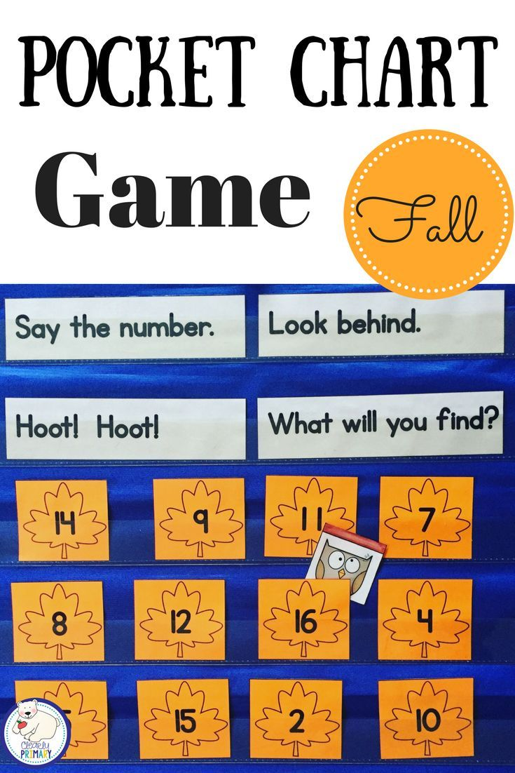 Fall Pocket Chart Game: Numbers 1-20, Alphabet & Sight Words   Kind