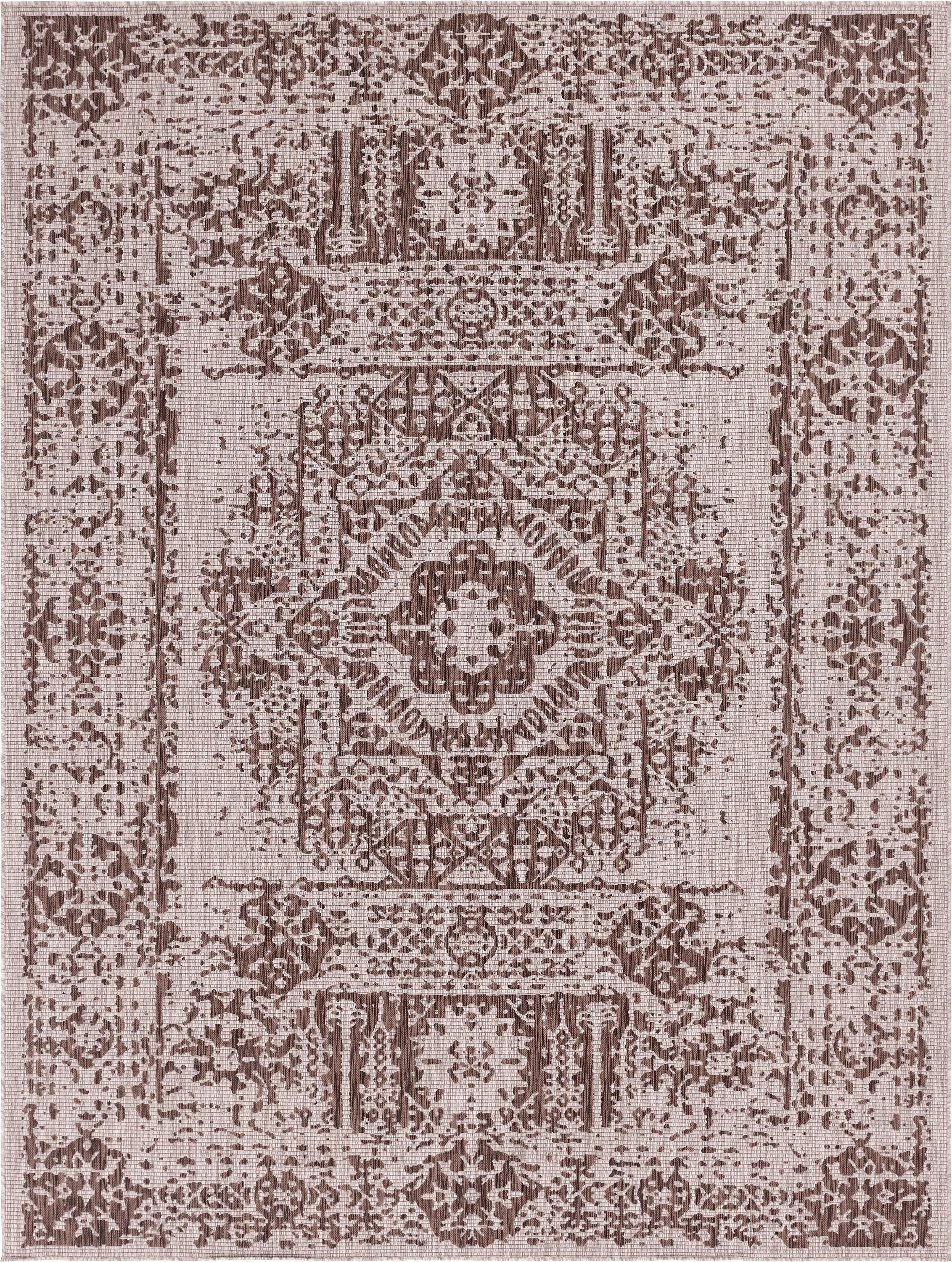 Light Brown 9 X 12 Outdoor Traditional Rug Sponsored Brown Light Rug Traditional Outdoor Spons Unique Loom Traditional Rugs Indoor Outdoor Rugs