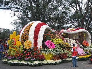 FLOWERS - FLOWER FESTIVAL FLOAT IN BAGUIO CITY
