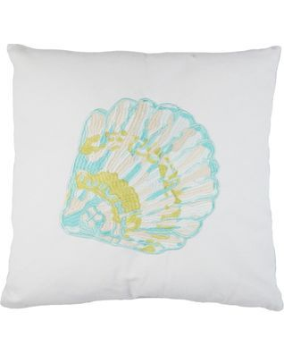 Elise U0026 James Home Embroidered Shell Pillow