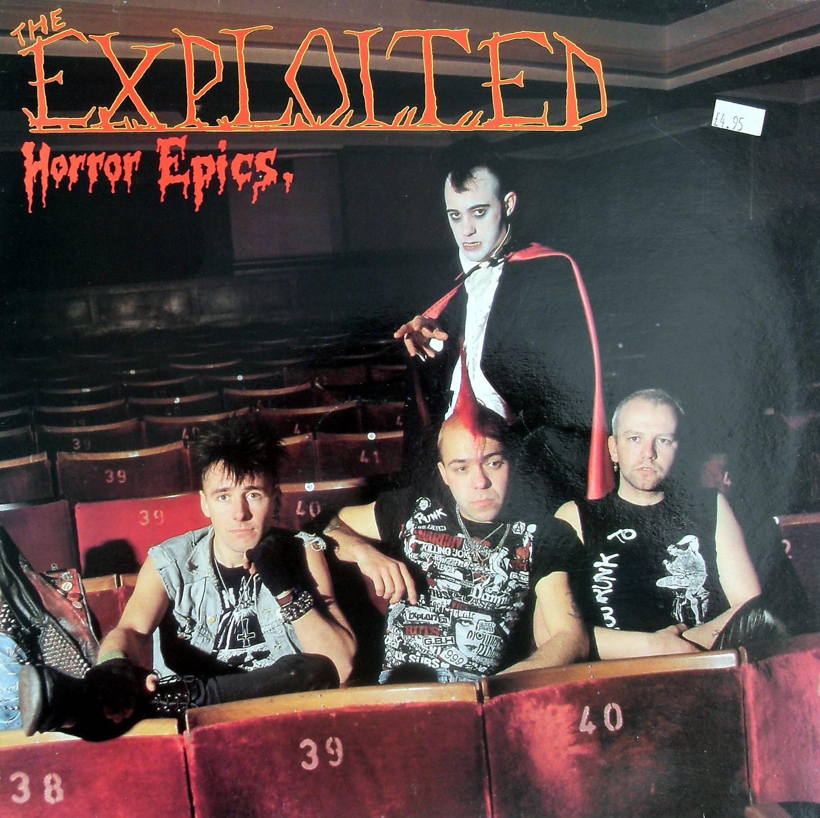 The Exploited Horror Epics Lp Love This Album Horror Punk Exploitation Songs