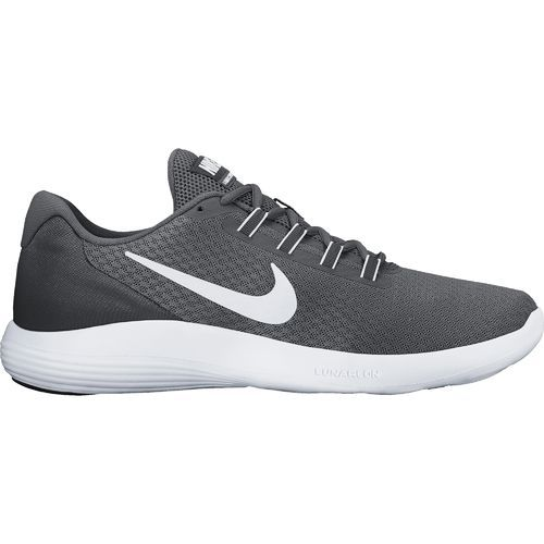nike running shoes grey. nike men\u0027s lunarconverge running shoes (black/matte silver/anthracite/white, size 15) - at academy sports grey