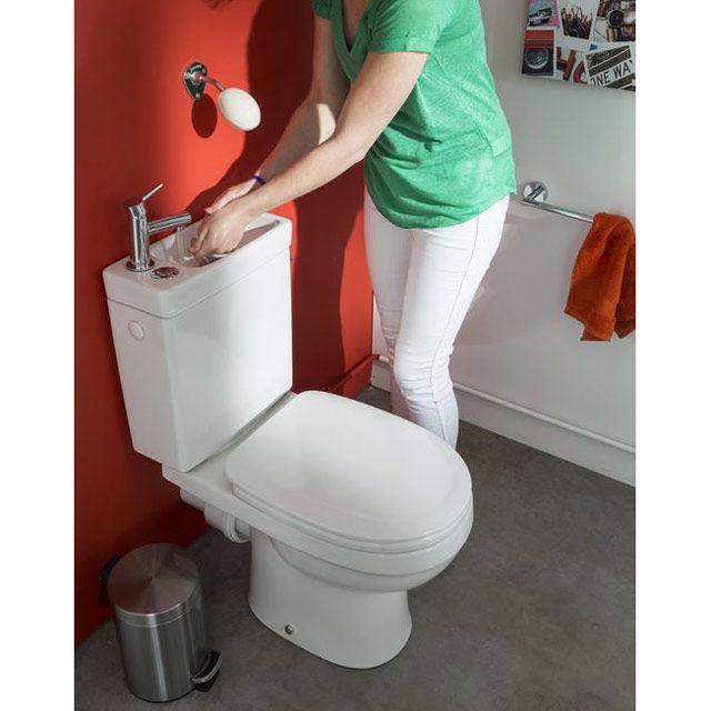 Délicieux Wc Avec Lave Main Integre Lapeyre #3: Pack WC Lave-mains Duetto - CASTORAMA Prix Normal 259,00 U20ac En Promo