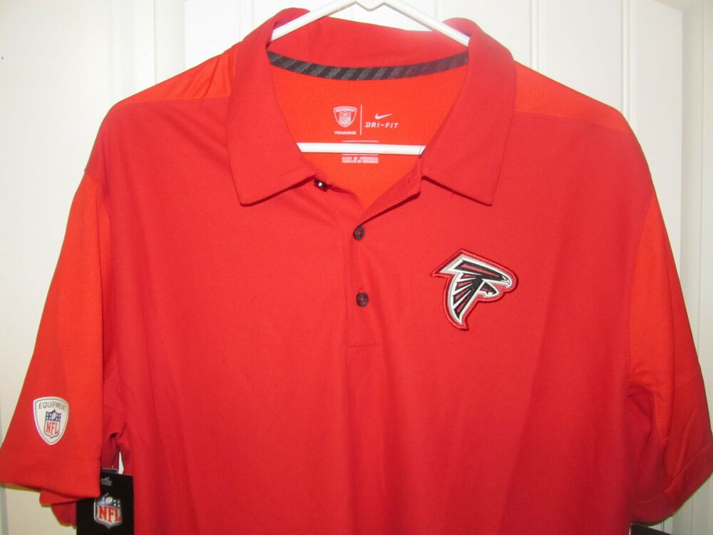 sports shoes 86811 cfbe1 Atlanta Falcons Red Sideline polo shirt - Nike Dri Fit Adult ...