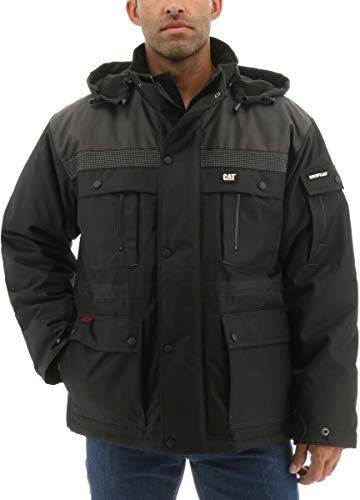 caterpillar men s heavy insulated parka regular and big on cheap insulated coveralls for men id=39481