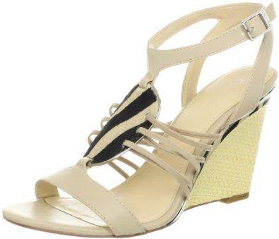 46570a6f79a Calvin Klein Women s Marion Shiny S Nappa Wedge Sandal Calvin Klein.   129.00. Heel measures approximately 4.