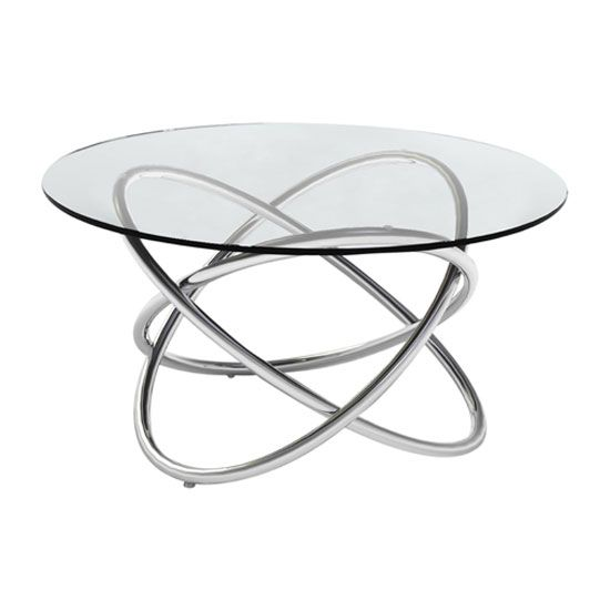 Villa Lamptable In Clear Glass Top With Stainlesssteel Frame Provide Stylish Accent For Any Room Its G Side Table Round Glass Coffee Table Glass End Tables