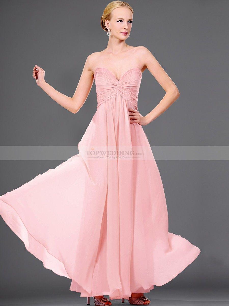 Strapless chiffon a line prom dress with crisscross bodice bodice
