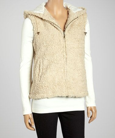 This Natural Hooded Vest by Montanaco is perfect! #zulilyfinds