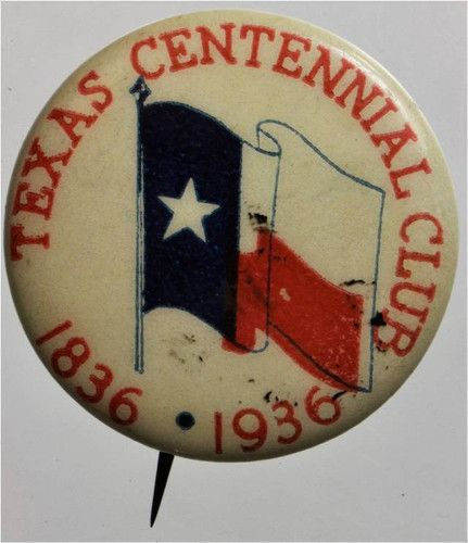 Texas Centennial Club 1836-1936 pin