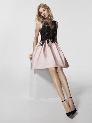 cc5fc0b2e CAILEN - Vestido de fiesta corto de tul y encaje Pronovias