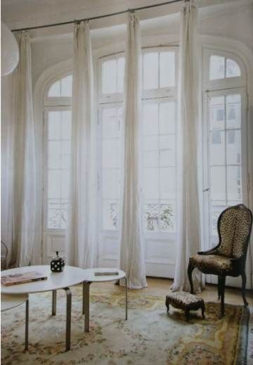Apartment Big Windows Curtain Rods 24 Ideas #apartment in ...