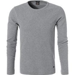 Photo of Boss camicia a maniche lunghe uomo, cotone, grigio Hugo Boss