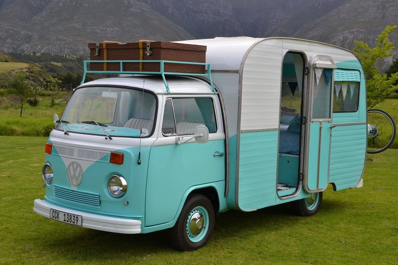This camper is called a VW Autovilla and was made in the 70's by a South African company called Jurgens. This is a 1976 model.