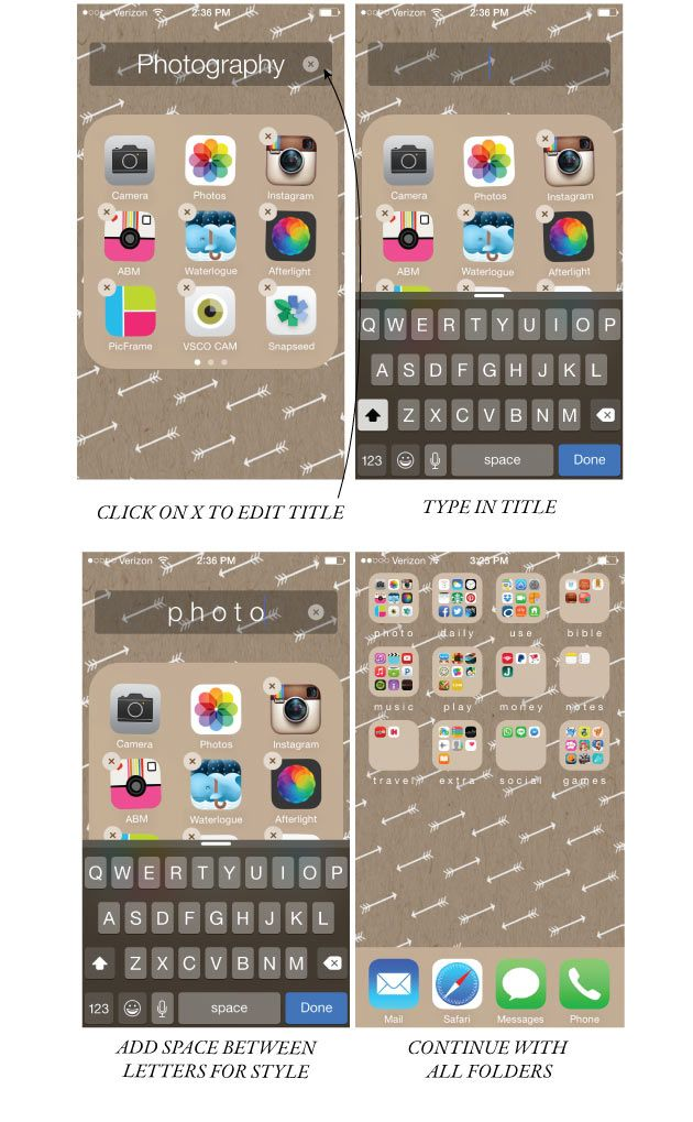 how to organize your iphone screen (and make it look pretty) | Jones Design Company