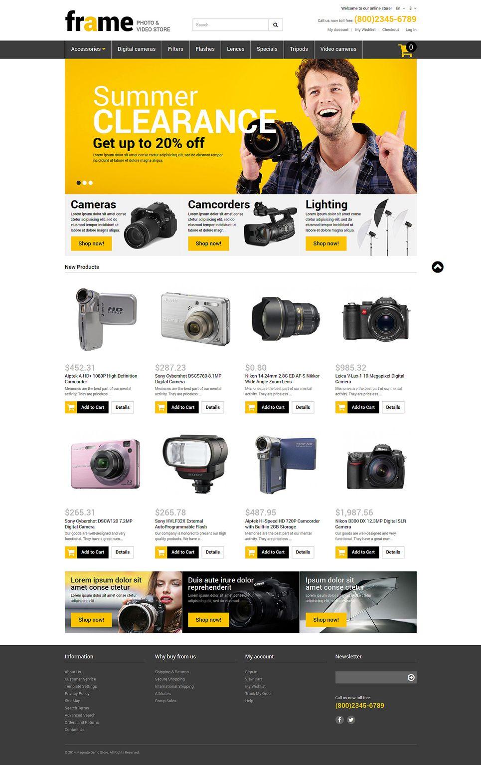 Photography Responsive Magento Theme 52327 Web Design Software Best Website Templates Web Inspiration