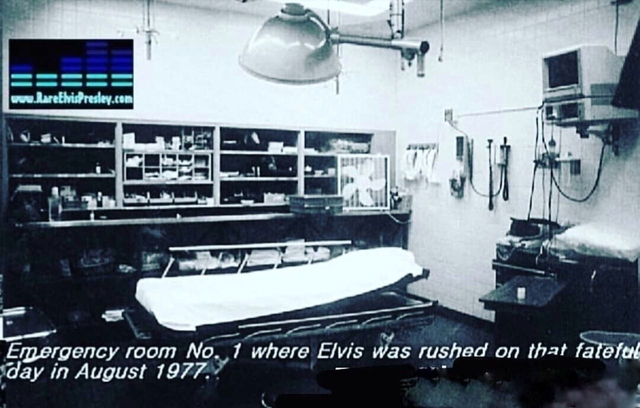 Emergency Room No 1 Where Elvis Was Rushed That Day In August 1977 Source Elvis In The 70s Fb In 2020 Elvis Elvis Presley Family Emergency Room