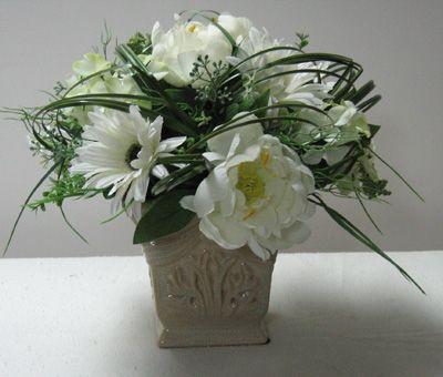 Small white silk flower arrangement floral design pinterest small white silk flower arrangement mightylinksfo