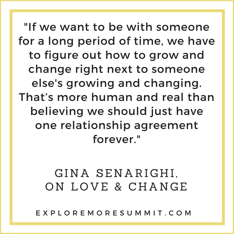 Gina Senaright talks about how to create strong relationships through time and change, at the free Explore More Summit. Mar 8-17. #love #relationships #divorce #marriage