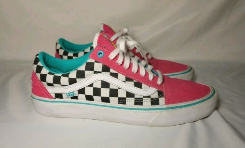 64e74de93b6240 Vans x Golf Wang Odd Future Old Skool Pink Checker Tyler the Creator Size  10.5
