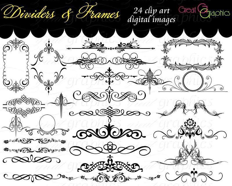Pictures Religious Dividers Clip-Art | Clip Art Frames Dividers Scrolls Digital Clip Art for Invitations