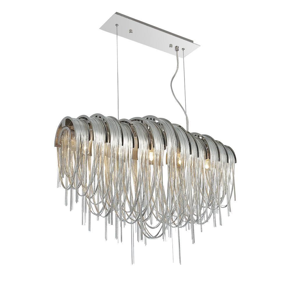 Cwi lighting shirley 6light chrome chandelier5637p28c