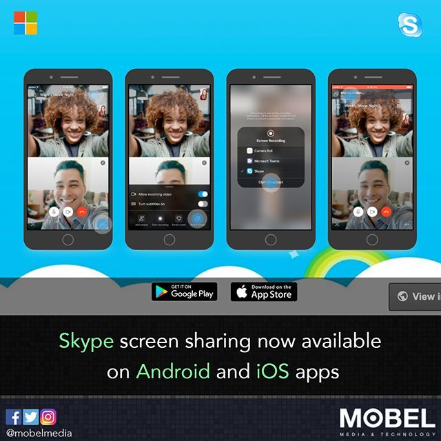 Skype screen sharing now available on Android and iOS