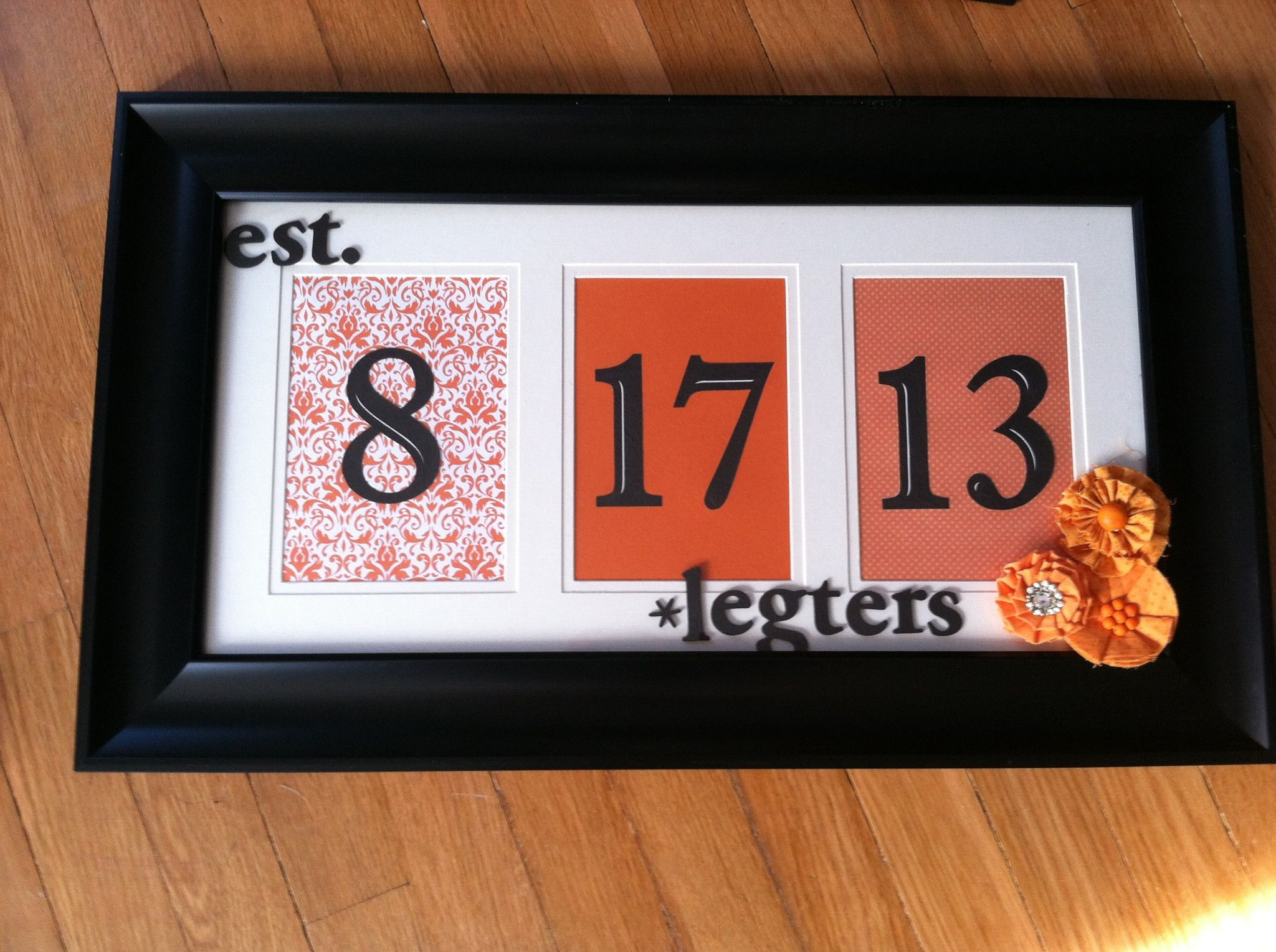 Wedding Date Gift Ideas: Bridal Shower DIY Gift, Wedding Date, Couples Last Name