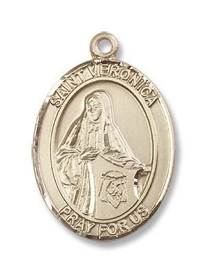 "Gold Filled St. Veronica Medal Pendant Charm with 24"" Gold Chain in Gift Box. Saint Veronica's Feast Day Is July 12th. She Is the Patron Saint of Photographers and Laundry Workers Is Symbolized By Holding a Veil Bearing the Face of Christ and Carrying the Crown of Thorns. BM001 http://www.amazon.com/dp/B003NFJ2LC/ref=cm_sw_r_pi_dp_EDrnvb0EJEPWR"