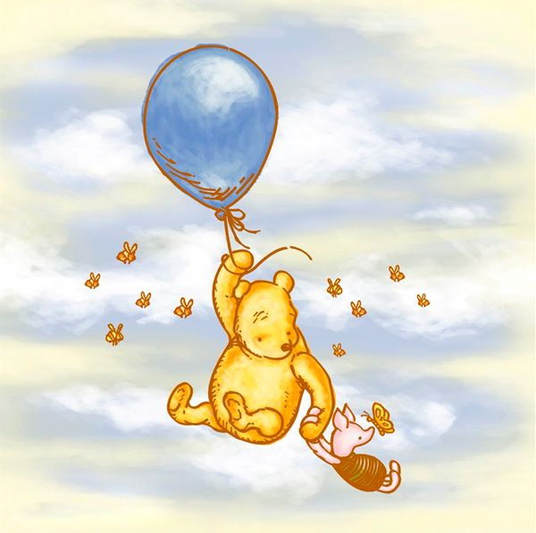 Classic Winnie The Pooh Amp Piglet In The Sky With Bees Amp A