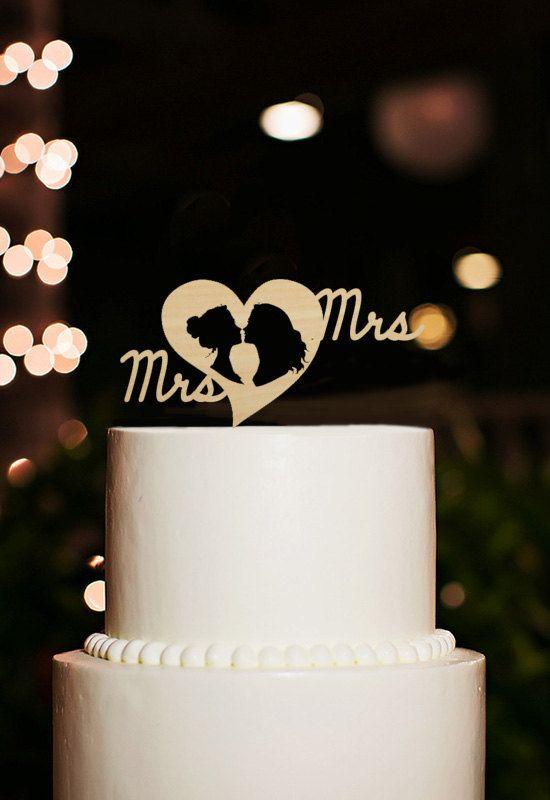 Lesbische Cake Topper Frau Und Frau Cake Topper Von Designcmc