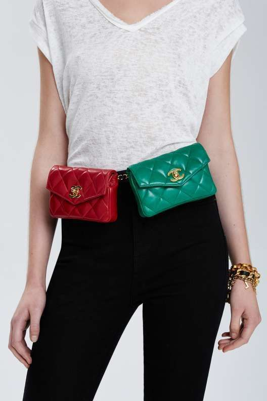 b28c91481fae44 Vintage Chanel Double Belt Bag - Accessories Hip Bag, Vintage Chanel, Coco  Chanel,