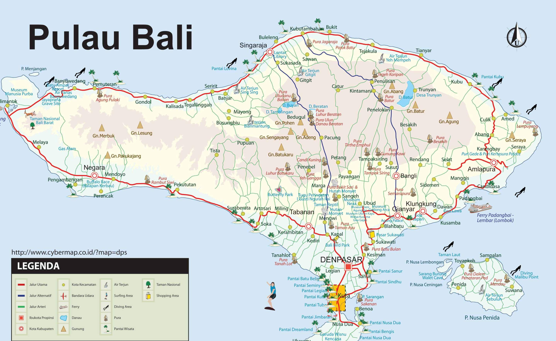 Carte Bali Lieux Touristique.Carte De Bali En Indonesie Bali Indonesie En 2019 Bali