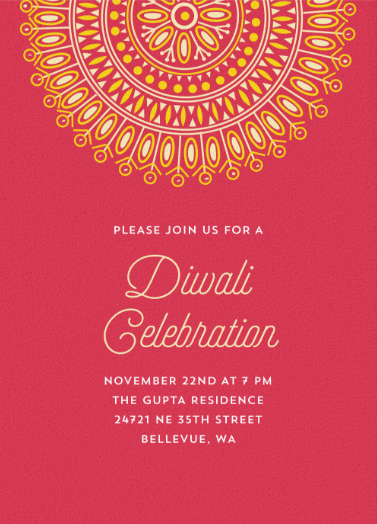 Diwali Colors Online Invitation By Anupama On Minted Com