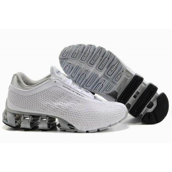 4ba77174330d8 chaussure de course Adidas Porsche Design Sport Bounce S2 Homme - gris clair  blanc pas cher site