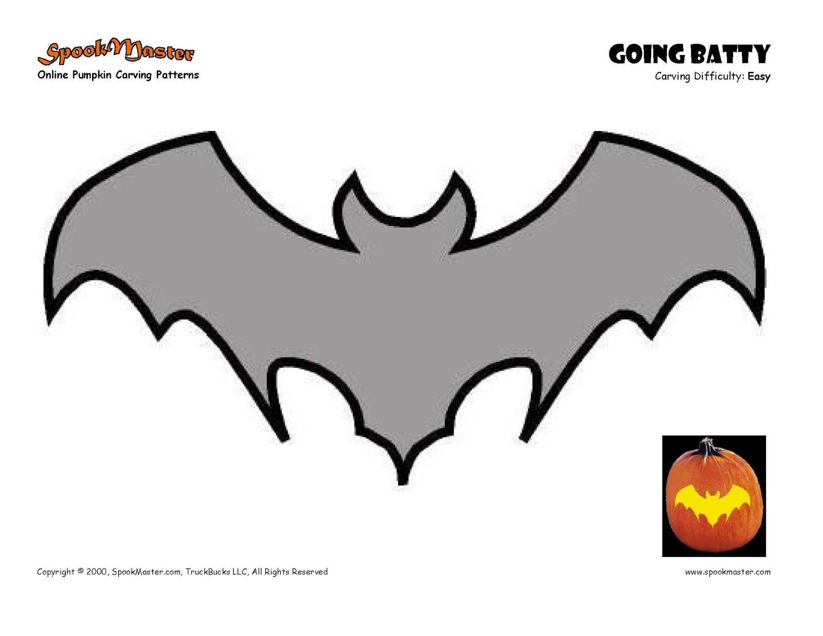 Free printable bat pumpkin carving patterns design templates | Funny ...