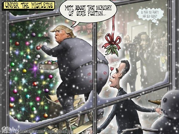 Mistletoe Christmas Trump Romney (So Much For Dignity And Selfーrespect) | By