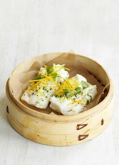 Photo of Steamed fish with ginger and orange