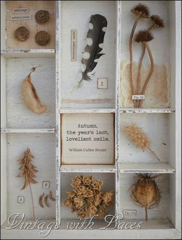 Autumn Shadowbox - I love what she does with ordinary things!  (great site!)