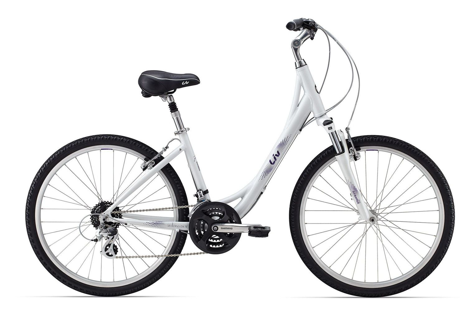 With A Lightweight Aluminum Frame And Smooth Rolling But Durable 26 Inch Mountain Bike Style Wheels Sedona W Is Ideal For B Hybrid Bike Giant Bicycles Bicycle