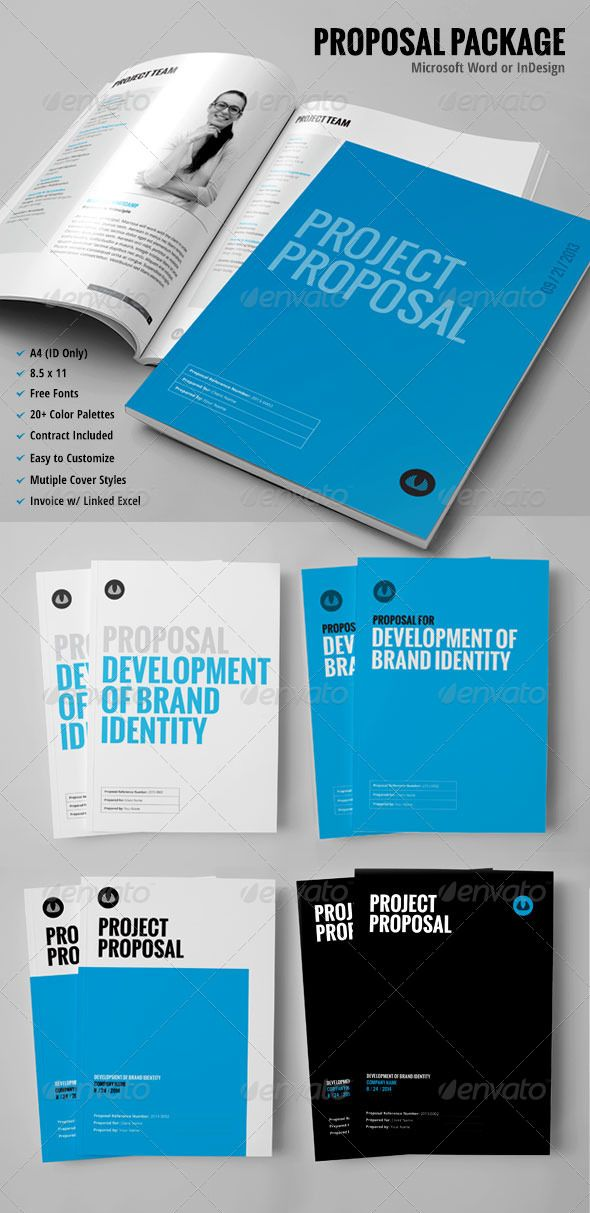 Business Proposal Template w\/ Resume \ Invoice 60+ Pages - microsoft contract templates