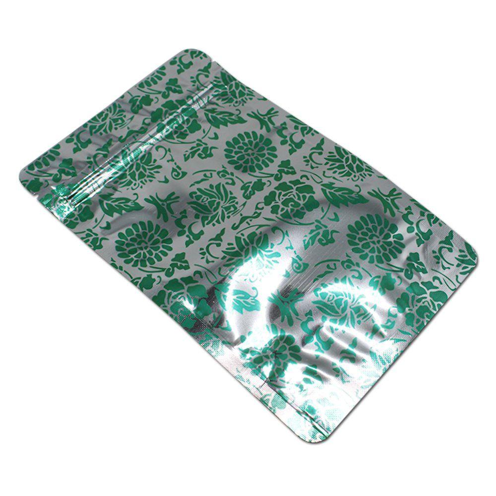50 Pcs Gusset Bottom Visual 3.54mil Mylar Foil Zipper Bags