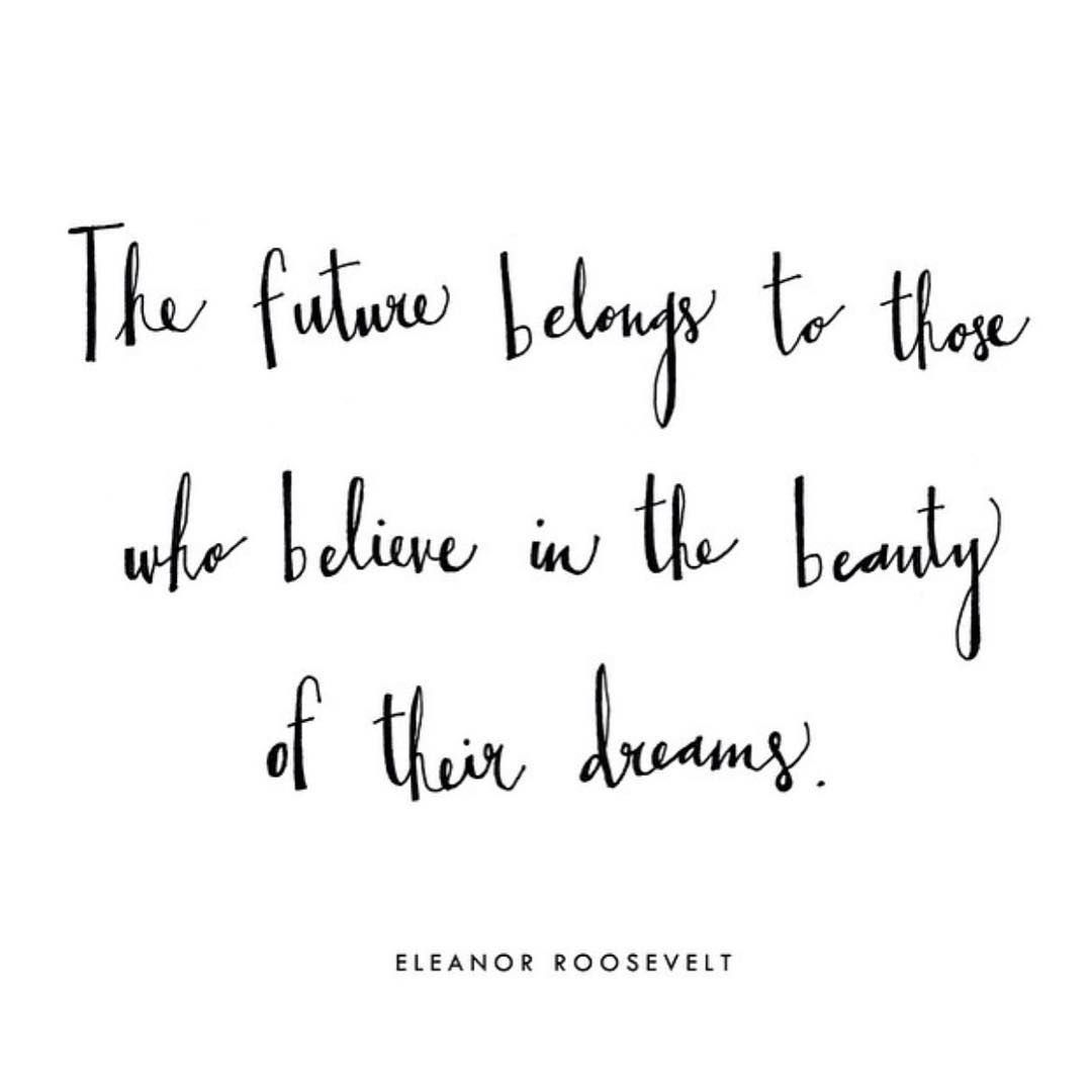 #WednesdayWisdom from a strong woman! #EleanorRoosevelt