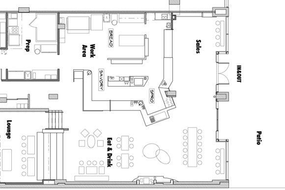 Hereu0027s a floor plan for Baked \ Wiredu0027s unnamed bakery concept at - project plan