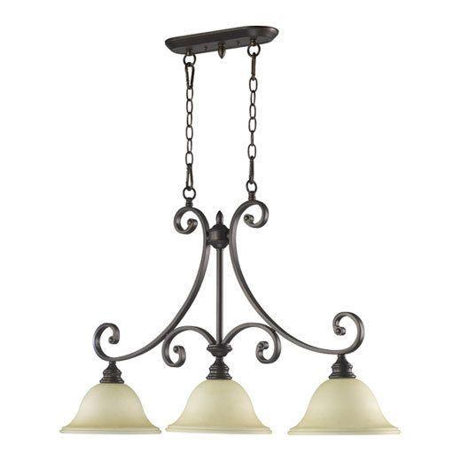 """Quorum International 6554-3 Bryant 3 Light 10"""" Wide Single Tier Chandelier with Oiled Bronze Indoor Lighting Chandeliers"""