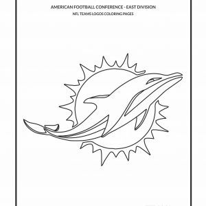 Teams Logos Coloring Pages Cool Miami Dolphins Nfl Logo Free For