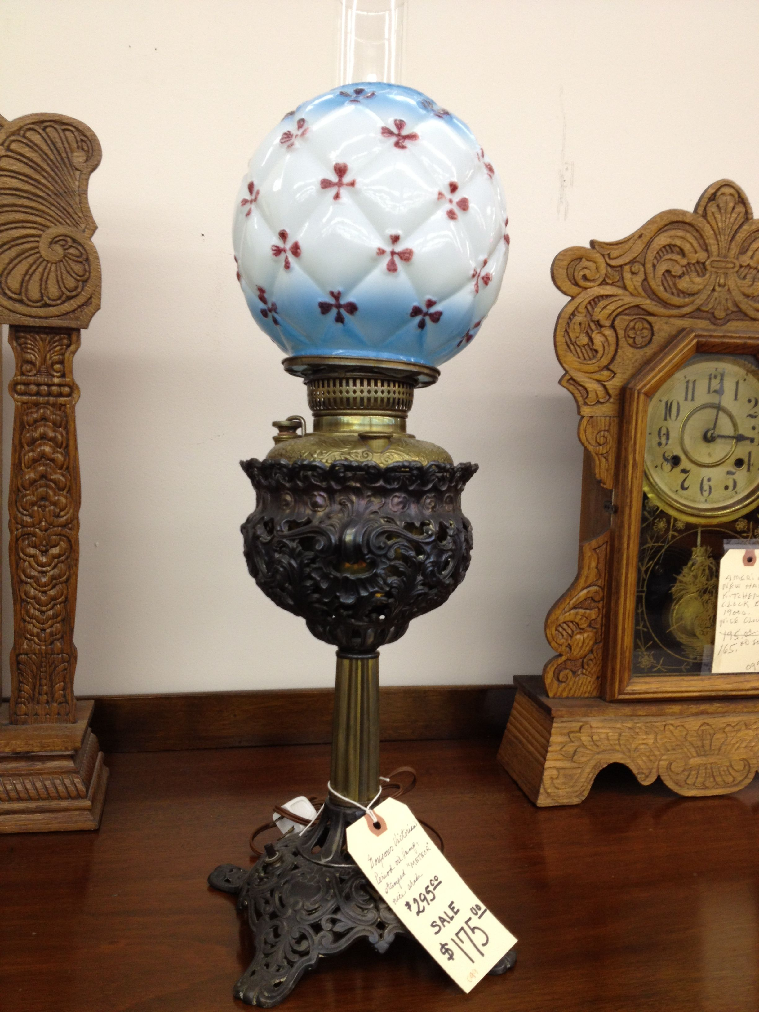 antique lamp at the antiques at park row in arlington lamps